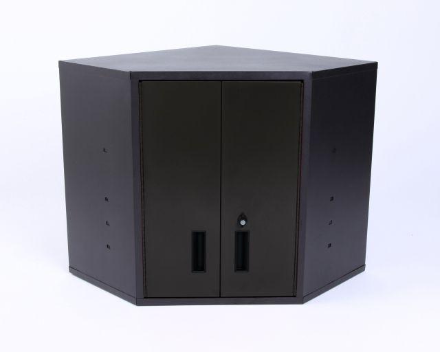 Black Metal Garage Corner Cabinet - Car Guy Garage | Black Metal ...