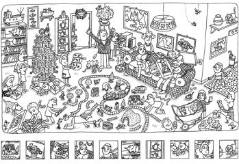 Pour Occuper Les Enfants Un Coloriage Cherche Et Trouve Special Noel Des 5 6 Ans Le Blog De Kidissimo Cherche Et Trouve Jeux A Imprimer Coloriage
