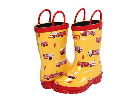 Hatley Kids Rain Boots (Infant/Toddler/Youth) Fire Trucks
