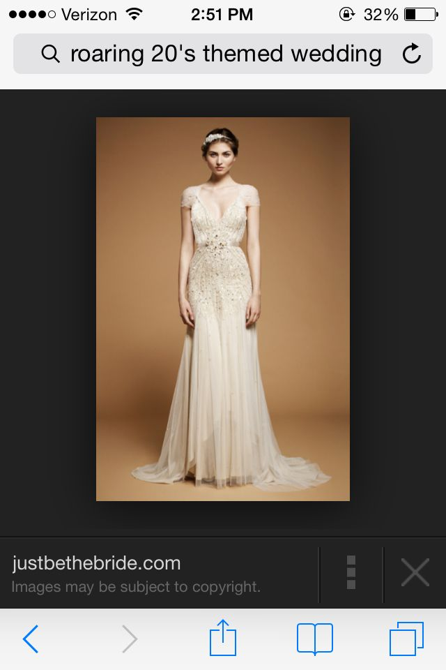 I love this dress!! Twenties dress 20's wedding dress