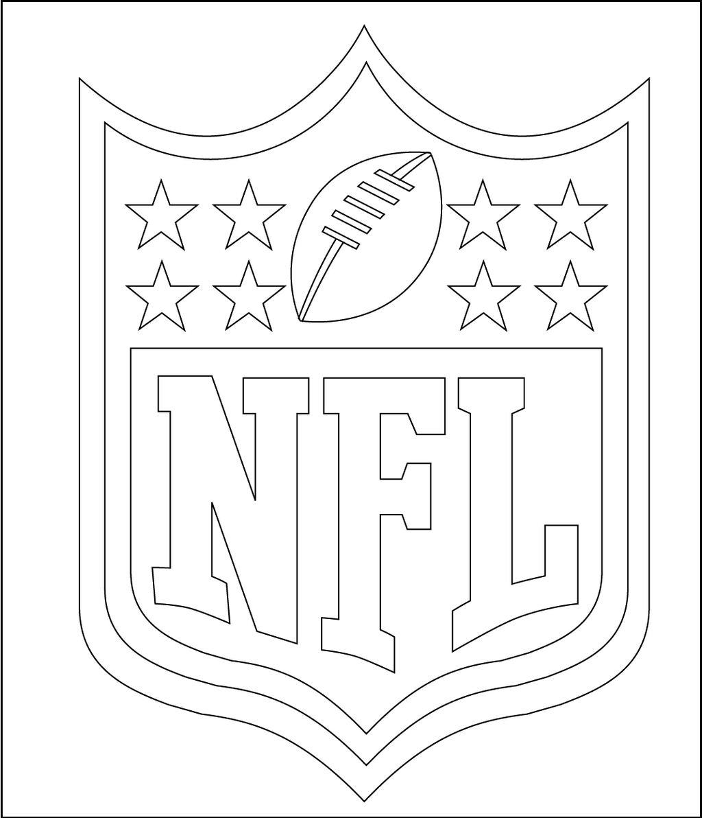 NFL National Football League coloring logo pages | sport coloring ...