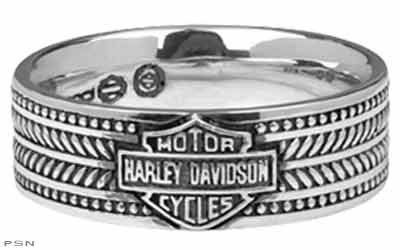 Harley Davidson SZ12 sterling Mens ring WEAVE Bar Shield band MOD