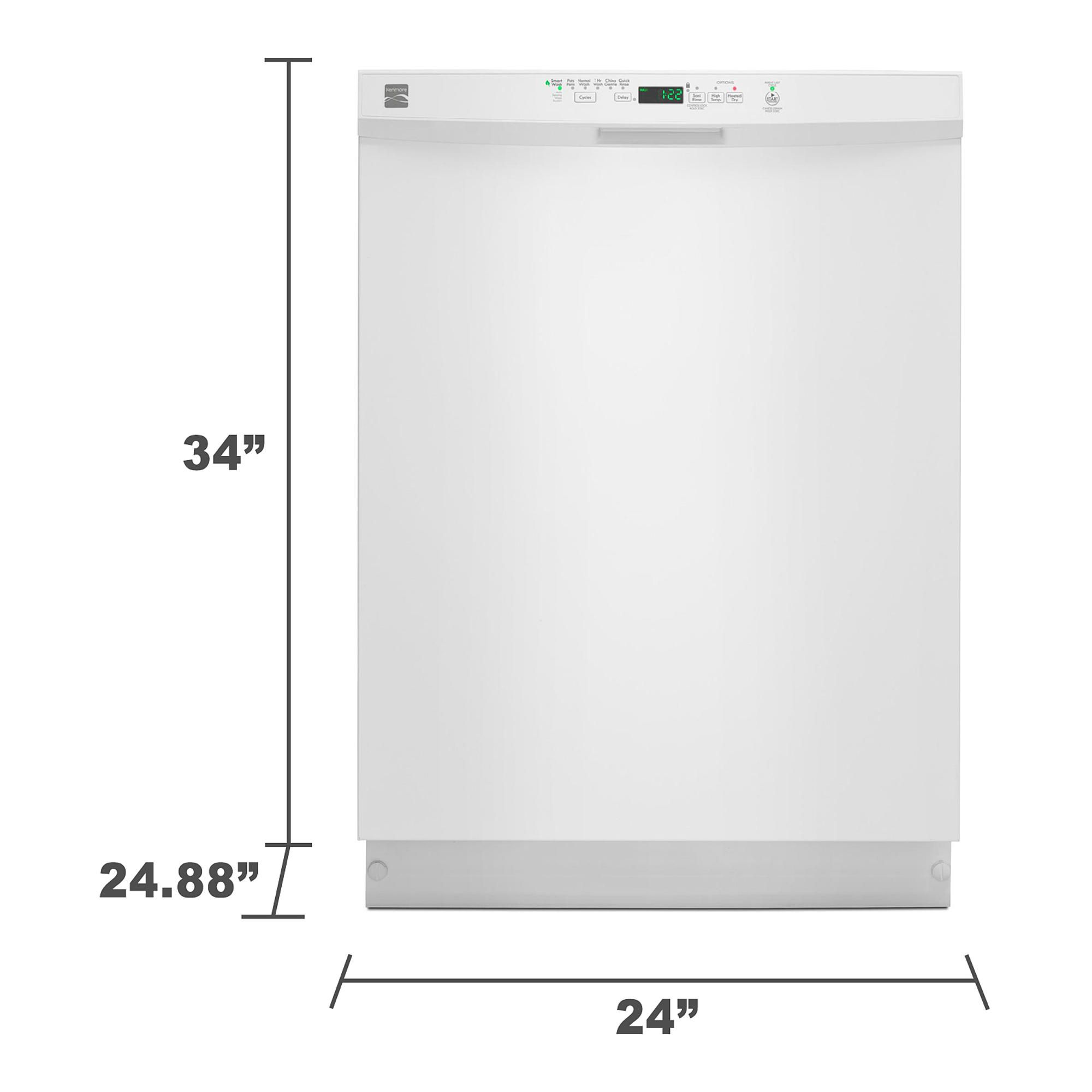 Kenmore 13222 Dishwasher With Steel Tub Power Wave Spray Arm
