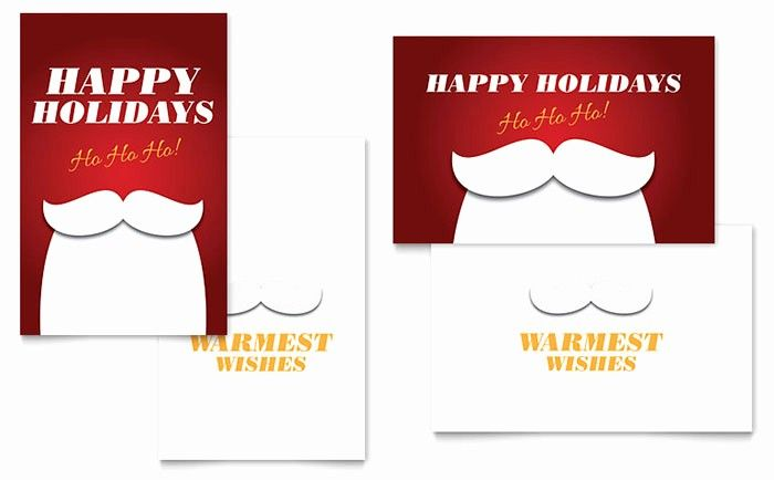 Ms Word Christmas Card Template Best Of Ho Ho Ho Greeting ...