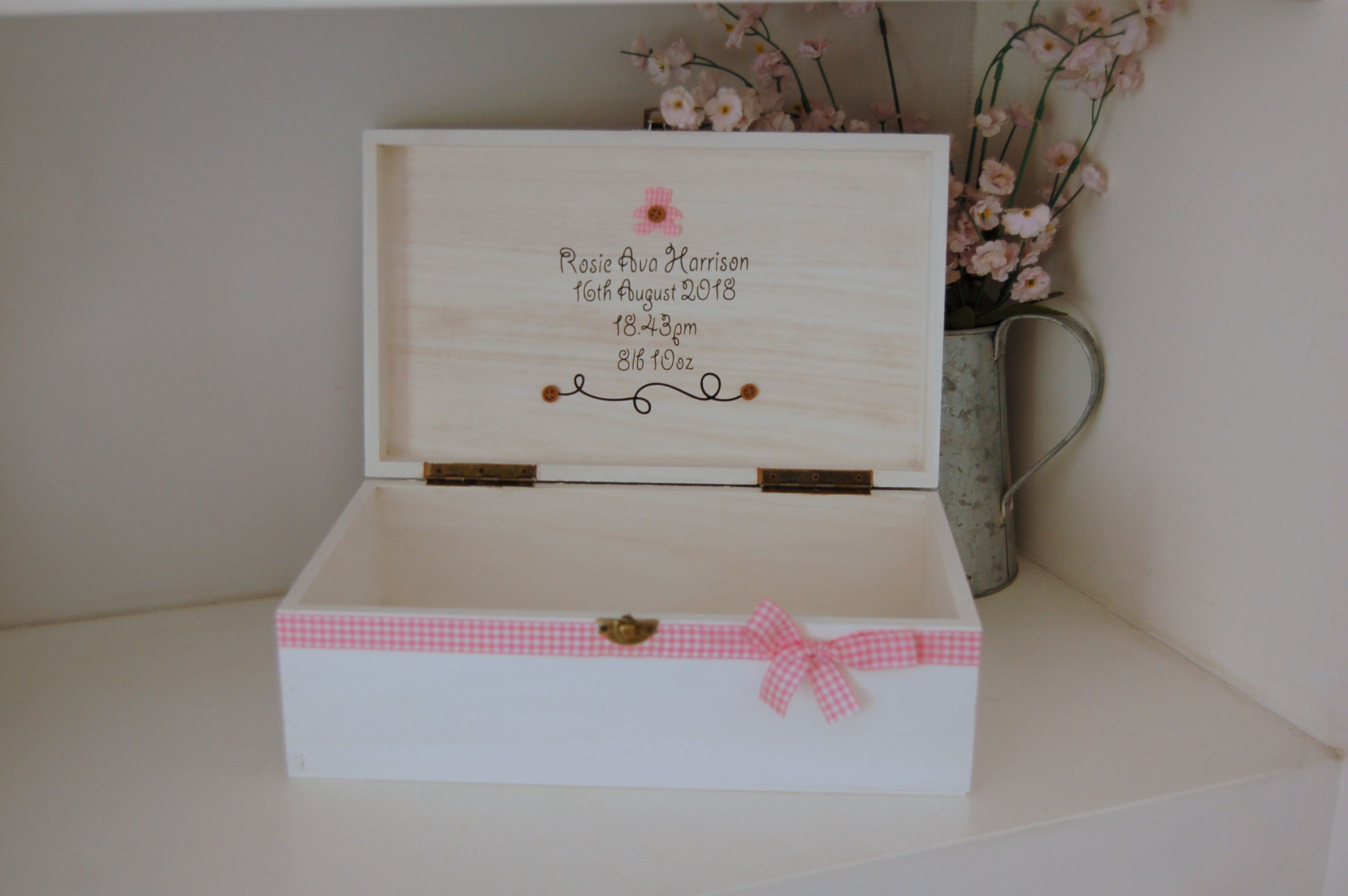 Personalised Christening//Naming Day Photo Album//Scrapbook//Memory Gift With Box