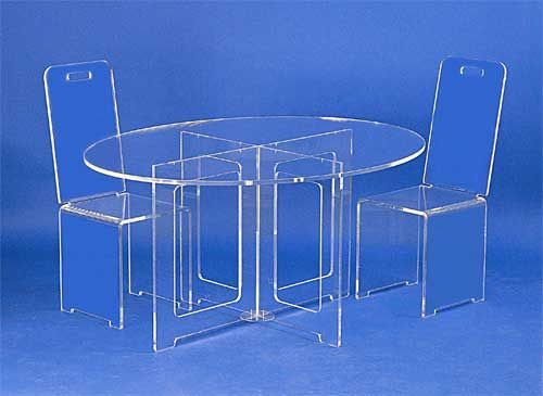 plexi table] peekaboo acrylic coffee table cb2, magic design of
