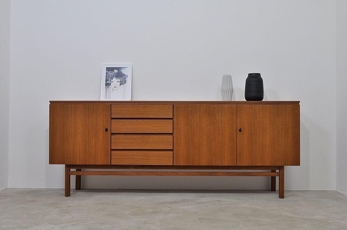 Wunderschön Sideboard Tiefe 60 Cm Dekoration Von 50er 60er Kommode Mid Century Modern Teak