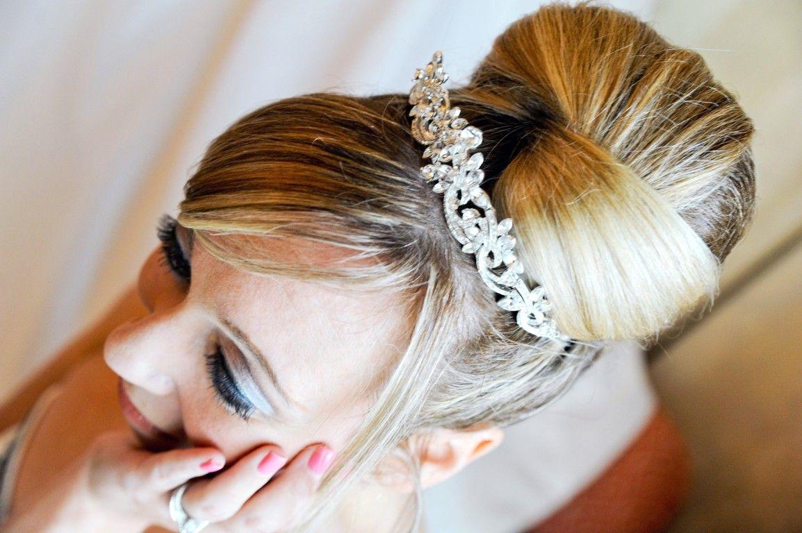 Dramatic Bun Updo Dramatic Wedding Eyes Beautiful Wedding Hair Bridal Hair And Makeup Wedding Hairstyles