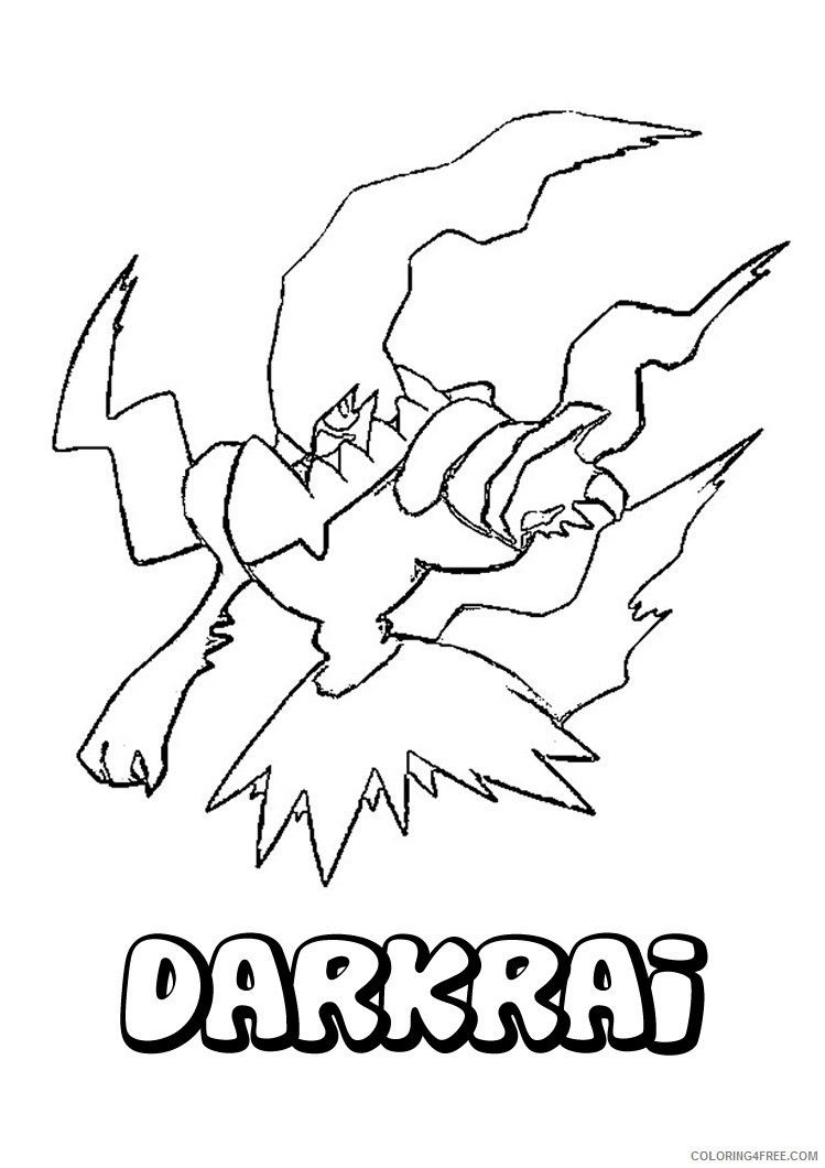 Pokemon Darkrai Coloring Pages Pokemon Coloring Pokemon