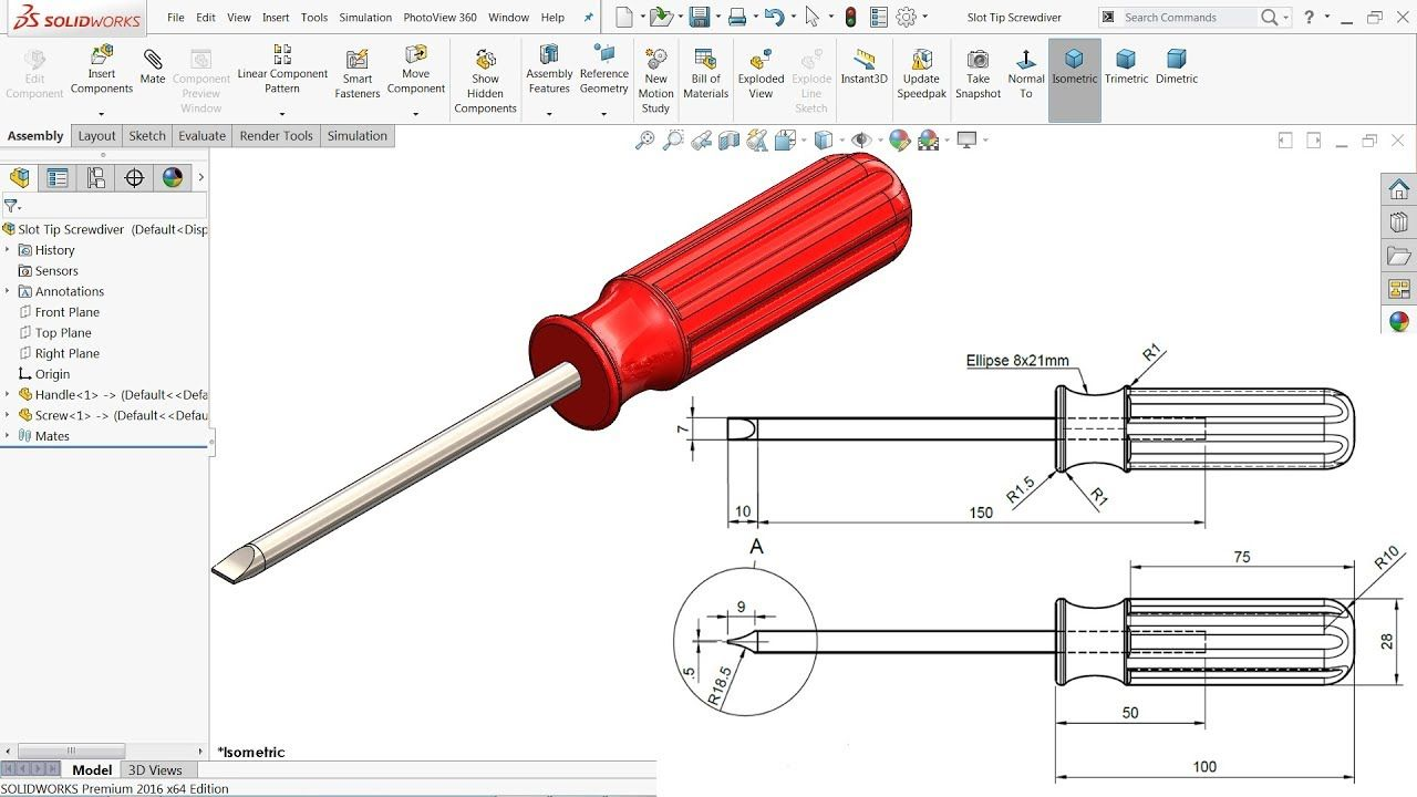 Solidworks Tutorial Assembly Of Screwdriver Youtube In 2020 Solidworks Tutorial Solidworks Mechanical Engineering Design