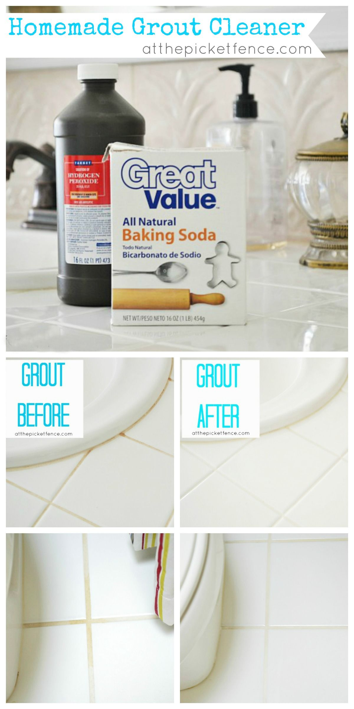 5 DIY Tricks for a Brilliantly Clean Bathroom Homemade grout