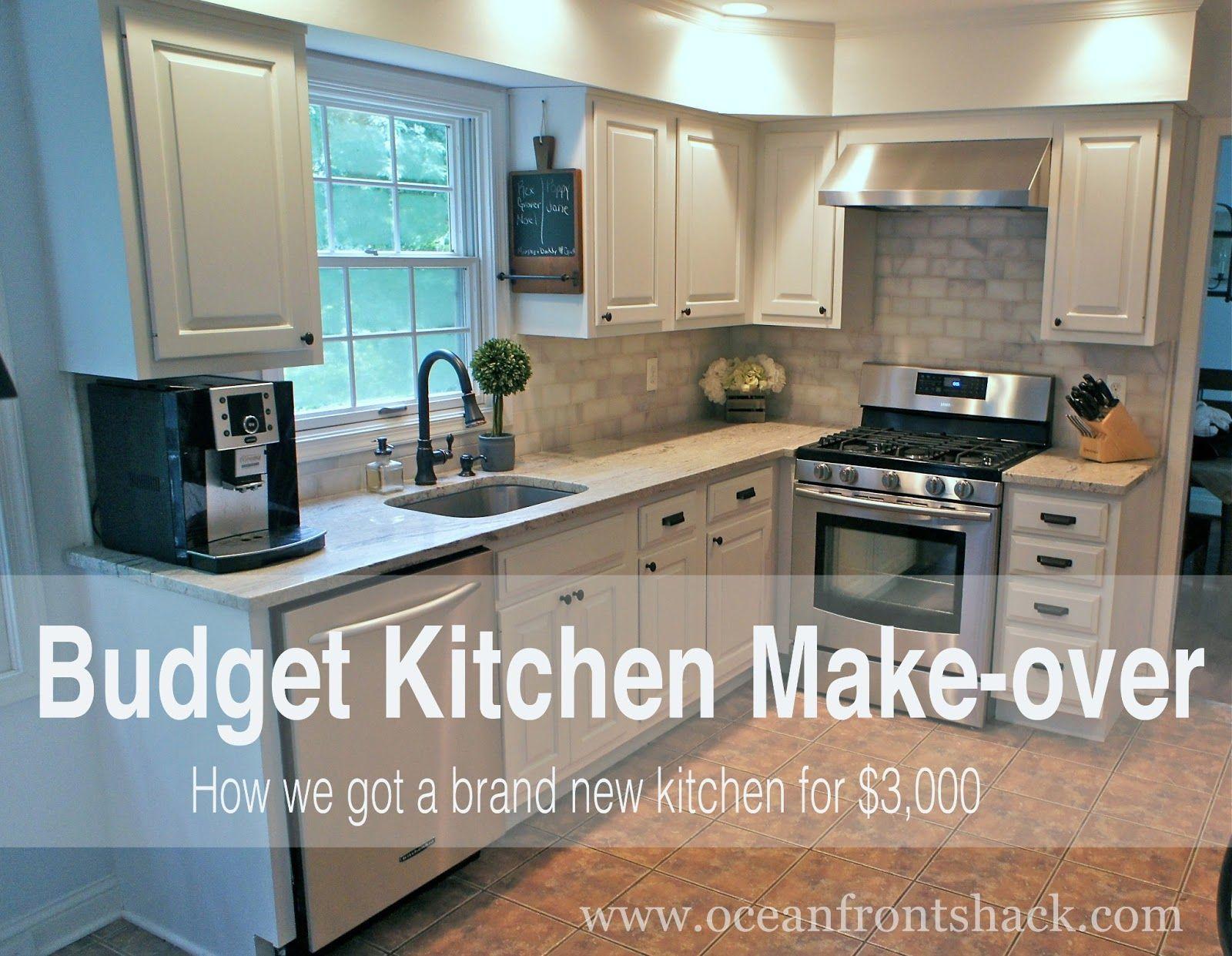 Budget Kitchen Make-over | Ocean Front Shack | DIY House | Pinterest ...