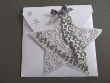 Carte personnalisée pour la naissance d'un petit garçon, motif étoile www.chezlesz.fr