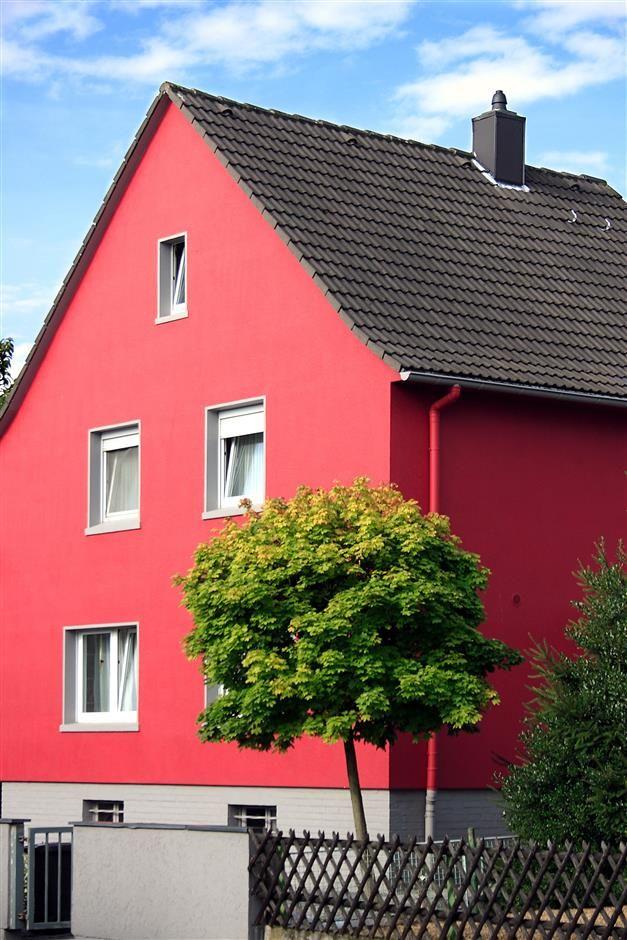 Ravissante grenadine #peinture #façade #rose #maison #zolpan - peinture de facade maison