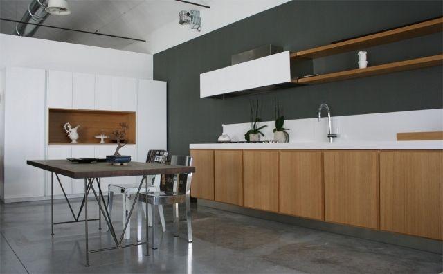 Küche modern holz weiß  moderne holz küche italien weiß grifflos effeti | Firmenküche ...