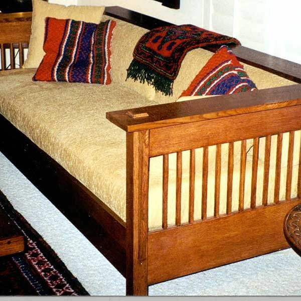 American Furniture Design - Woodworking Project Paper Plan to Build Mission Style Couch, AFD240 #woodworkingprojectschair
