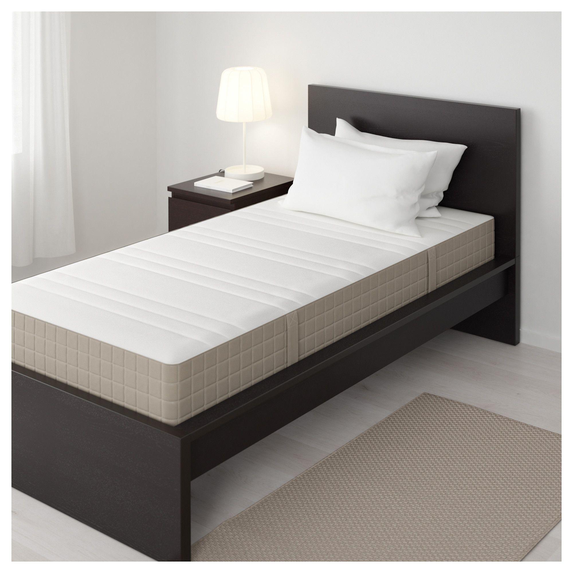 IKEA HAUGESUND Spring mattress firm, dark beige
