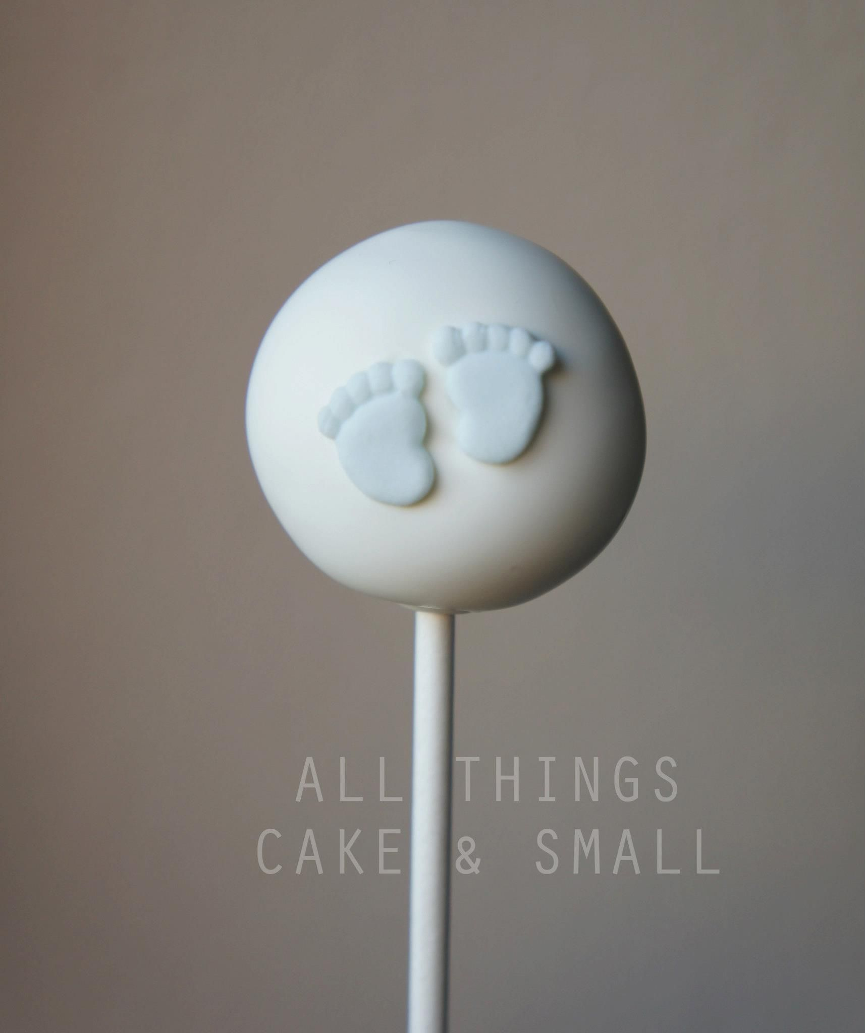 Adorable Little Footprint Cake Pops