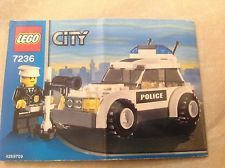 Lego City Police Car 4252686 7236 With Minifig And Instrcutions Lego City Lego City Police