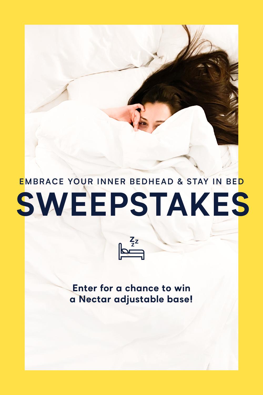 Stay In Bed Sweepstakes In 2020 Stay In Bed Sweepstakes