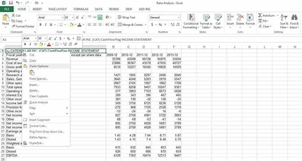 calculated ratio is not meaningful for analysis financial - projected income statement template