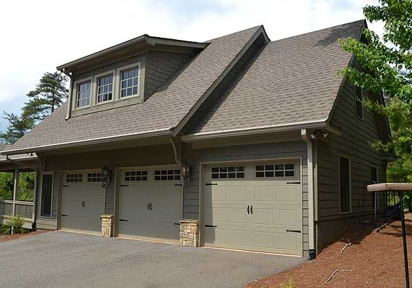 Plan 29827rl comforting 3 car carriage house plan for House plans with 3 car attached garage