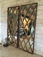 Harlequin Style Antique Window Frame Mirror from AldergateHome.Com