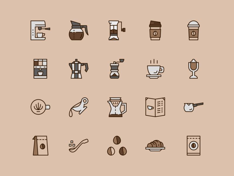 Coffee Shop Icon Set Coffee Icon Shop Icon Icon Set