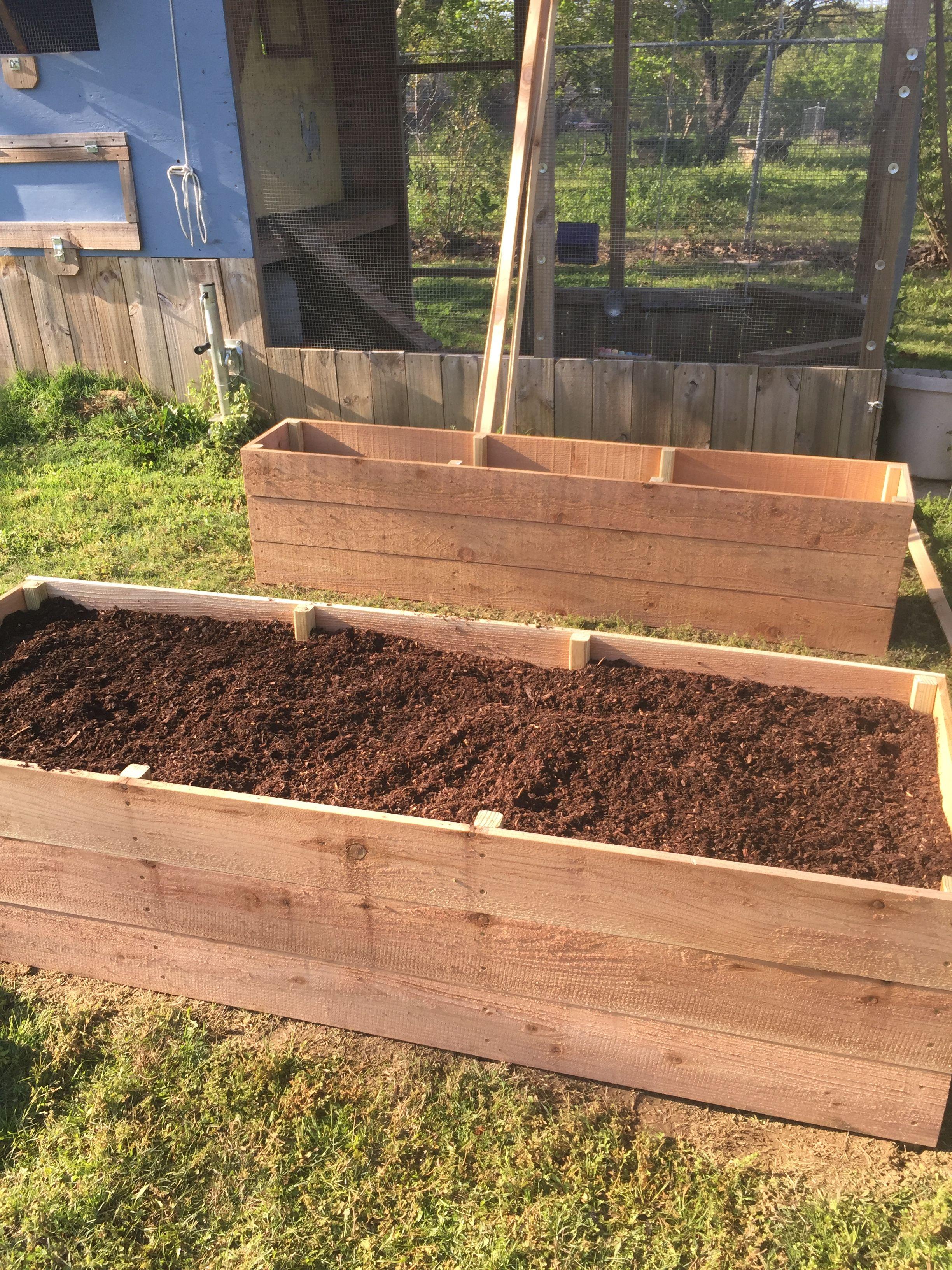 Cedar Fence Board Raised Garden Beds A Great Alternative To