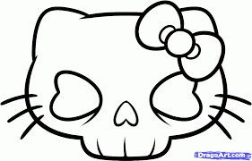 Image Result For Hello Kitty Skeleton Hello Kitty Drawing Kitty Drawing Easy Drawings