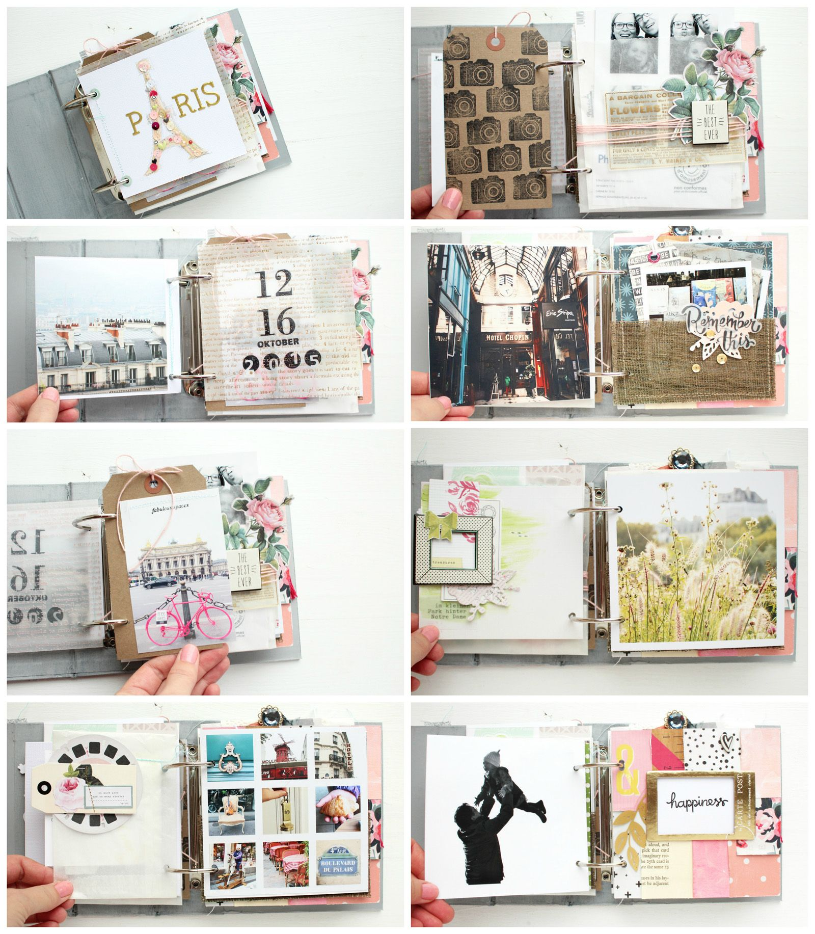 Album Gestalten Mini Album Quotparis Quot Details 1 Steffi Ried Scrapbooking