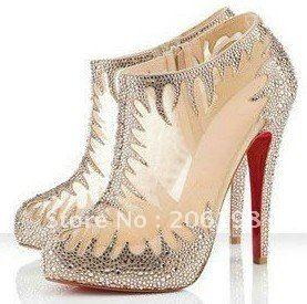 Daffodil Red Bottom Shoes Pumps High Heel Women Y Bridal With Rhinestone Jpg 277 275 Wedding Wishes Pinterest
