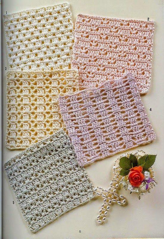 Patrones de 15 modelos de puntos para tejer con ganchillo | crochet ...