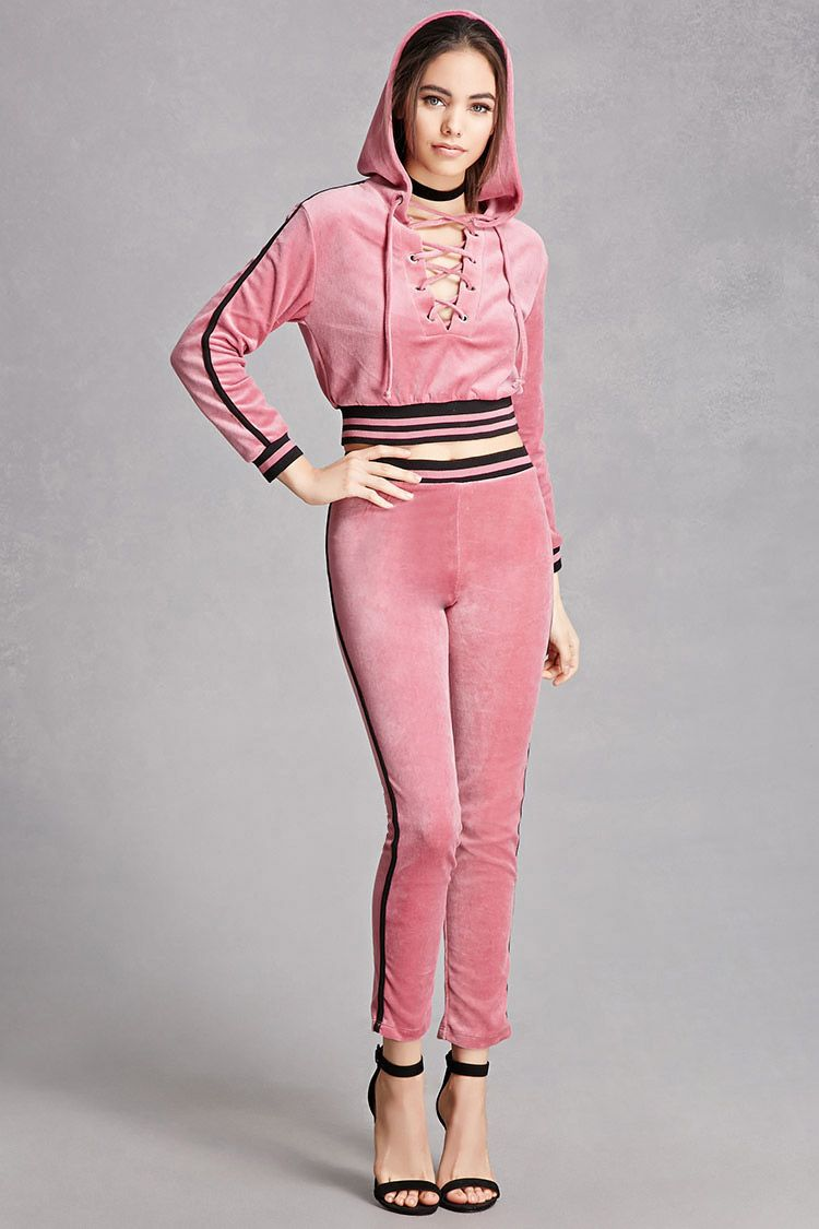 Velvet Lace-Up Crop Top   Kitty   Pinterest