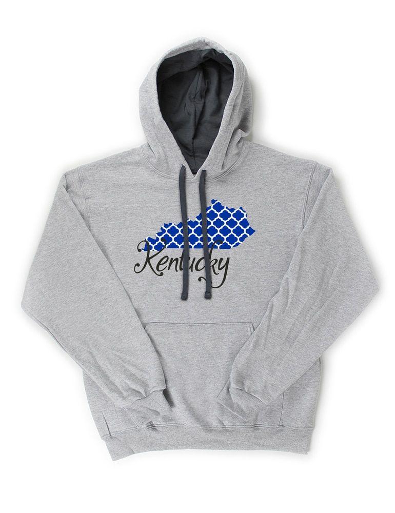 a63d2d47badc Kentucky Patterned State Pullover Hooded Sweatshirt (Athletic Heather) -  B-WEAR SPORTSWEAR