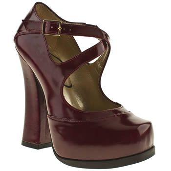 Women's Burgundy schuh Dita Strap Heel at schuh £24.99
