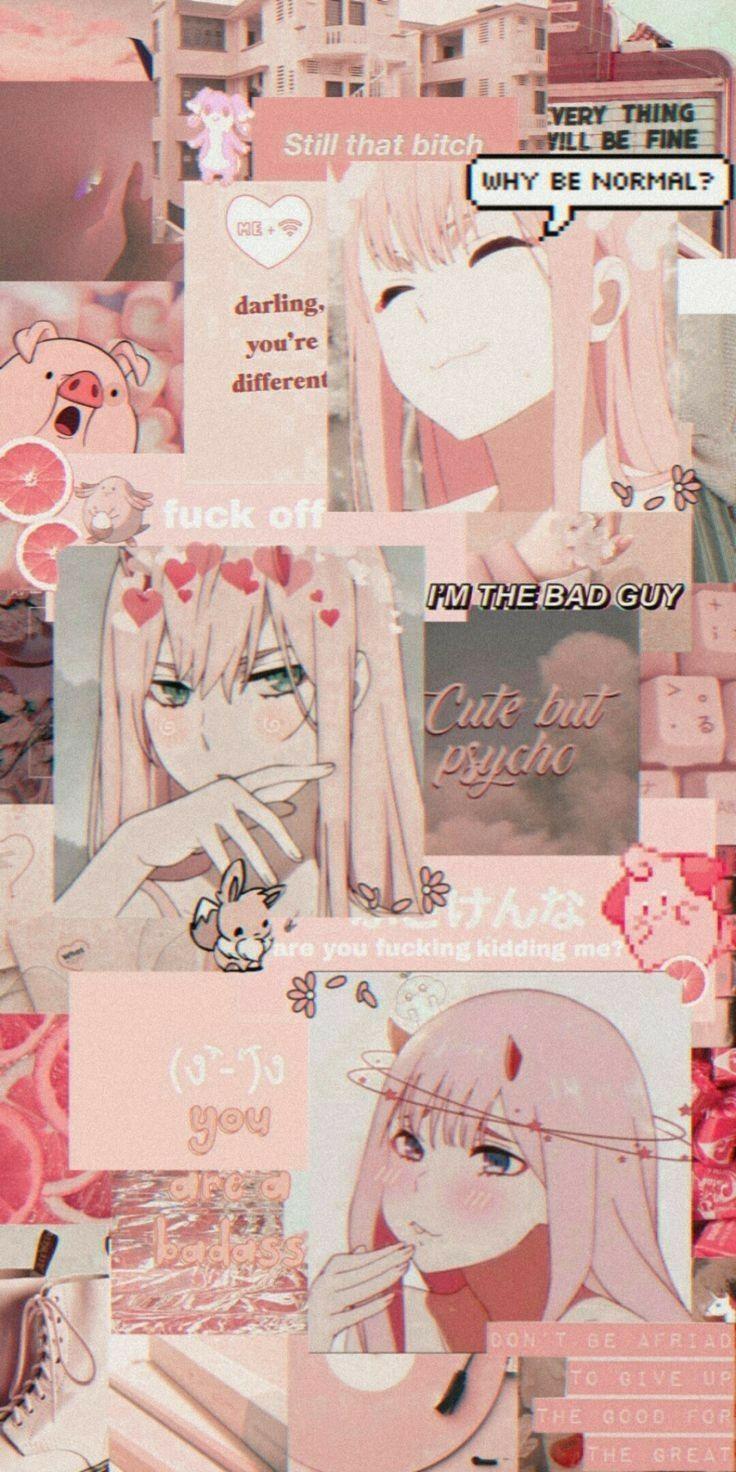 Zero Two Pink Wallpaper Anime Anime Wallpaper Iphone Anime Wallpaper Aesthetic zero two iphone wallpaper