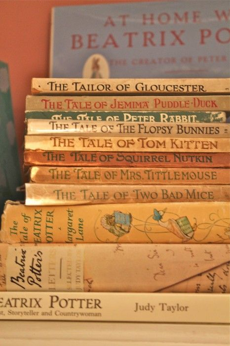 Beatrix Potter...especially The tale of Mr. Jeremy Fisher