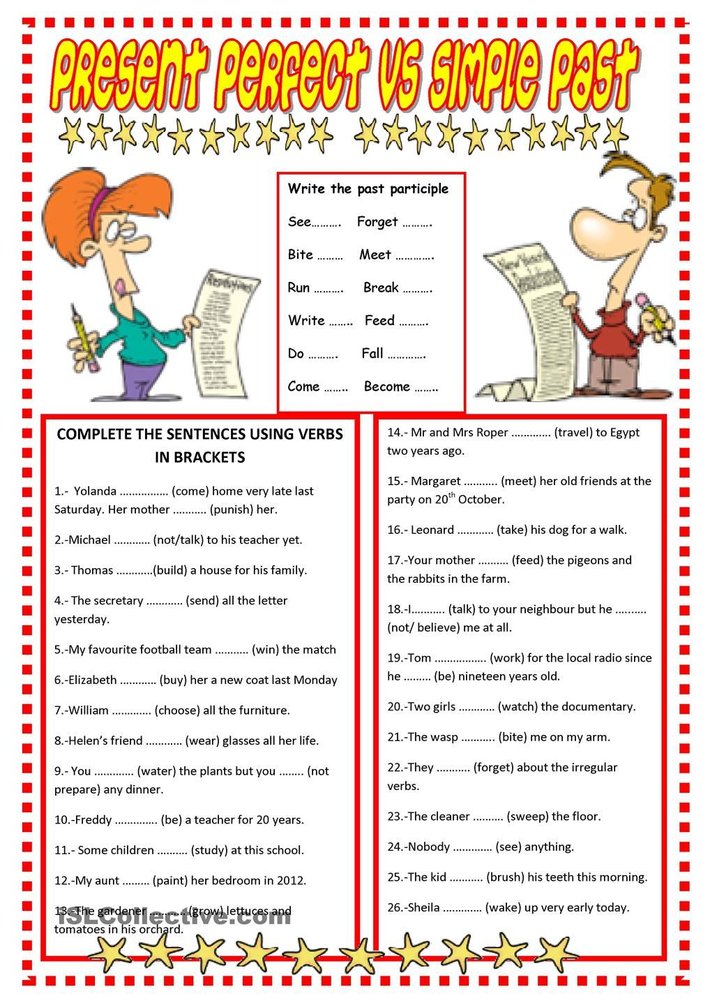 PRESENT PERFECT vs SIMPLE PAST | Engels | Pinterest | Englisch ...