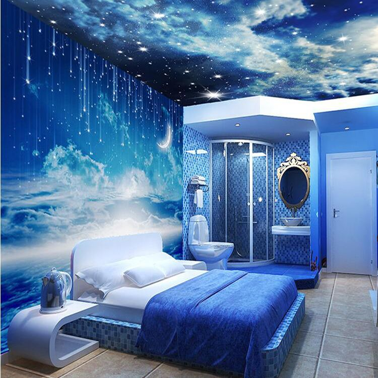 night sky wall painting - Google Search | Space themed ...