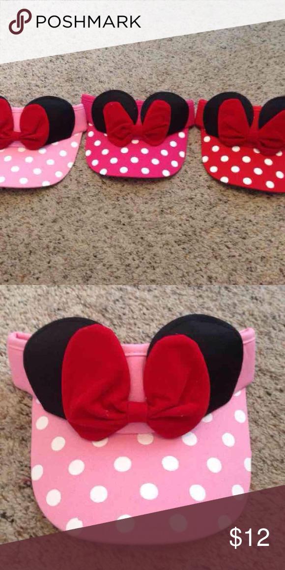 36dab6f64 New! Minnie Mouse inspired visor Light pink MINNIE MOISE SUN VISOR ...