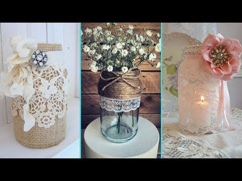 Love Shabby Chic If You Re Looking For Some Diy Shabby Chic Decor To Spruce Up Your Home You Ll Love Th Shabby Chic Jars Mason Jar Decorations Decorated Jars