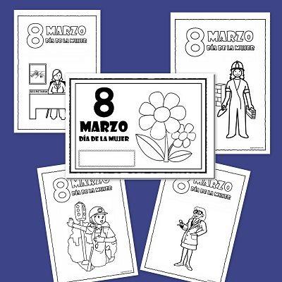 Dibujos para colorear: Día de la mujer trabajadora | Educación ...