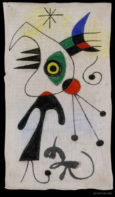 Miró's Woman and Bird in front of the Moon (1944)
