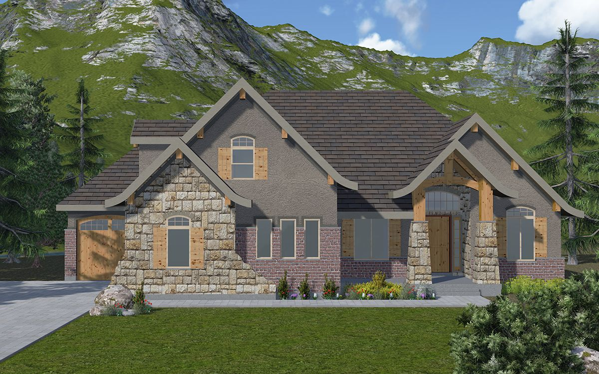 Charmonix - A Rambler Mountain Rustic style house plan ... on 3 story home designs, coastal home designs, traditional ranch home designs, single story home designs, country home designs, 2015 home designs, unusual home designs, 1969 home designs, geo home designs, southwest adobe home designs, farmhouse home designs, carriage house home designs, lakeside home designs, nigerian home designs, rambler house plans and designs, 1959 house designs, affordable home designs, small rambler designs, popular home designs, stylish eve home designs,