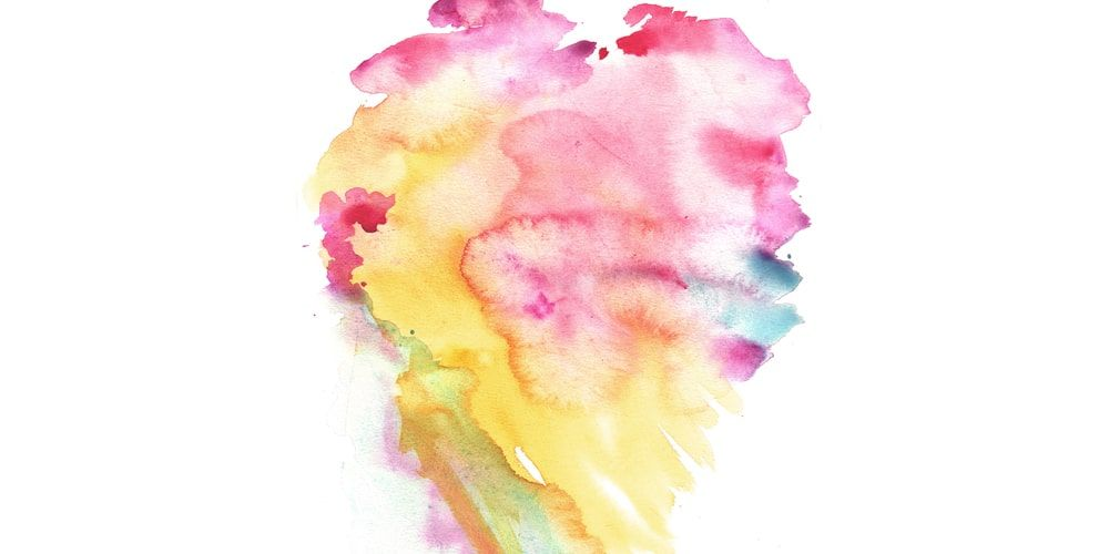 Watercolor Texture Watercolor Texture Watercolor Heart