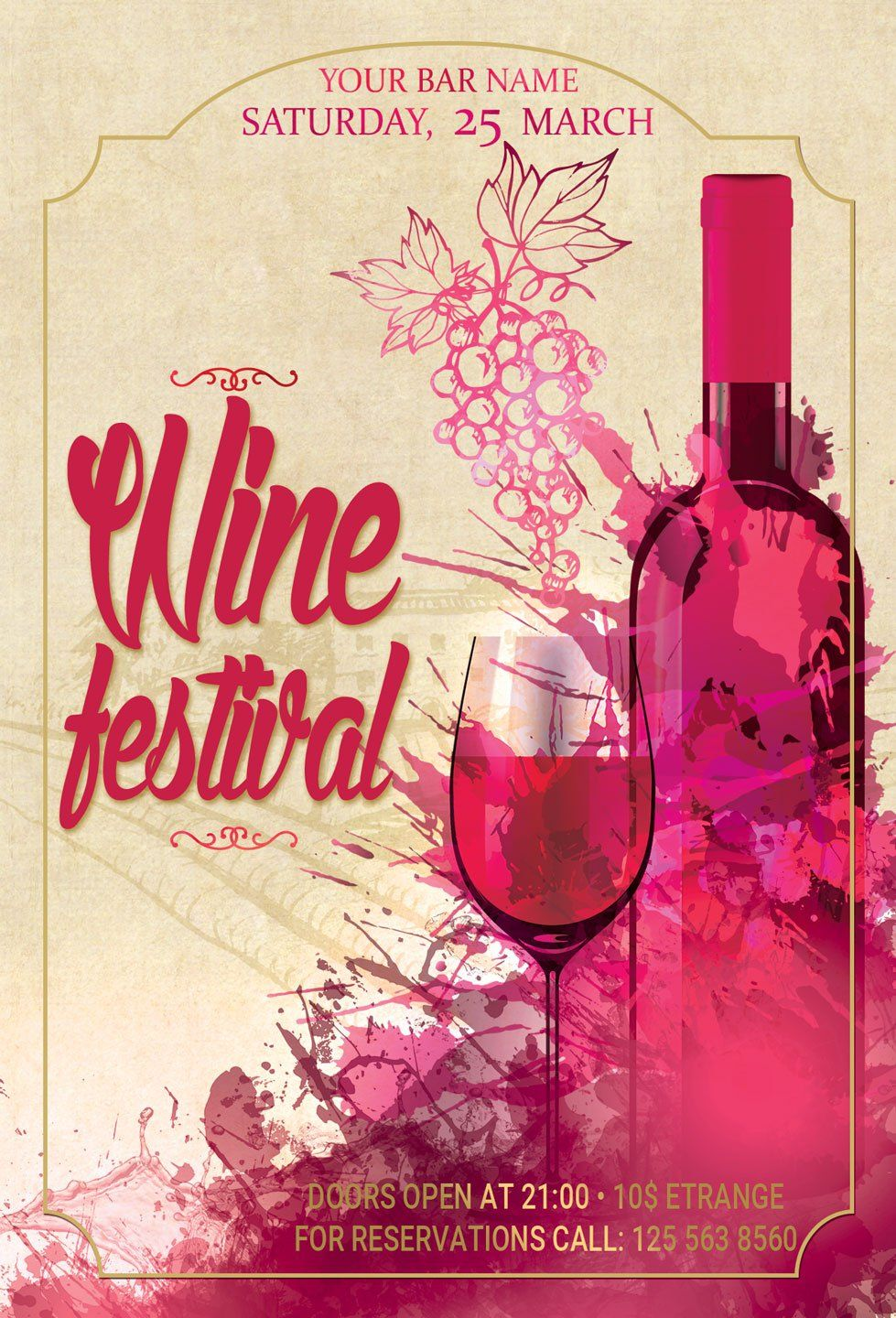 Wine Festival Flyer And Poster Festival Flyer Wine Festival Flyer