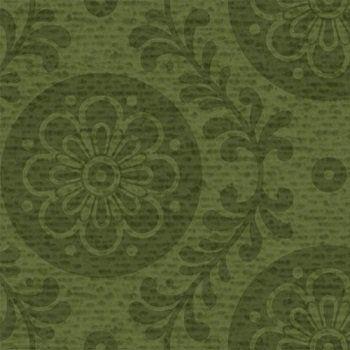 171   Подсолнечник Сад - Цветочные Медальоны (Форест Грин)