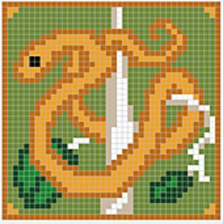 Serpent Chart pattern by Melanie Nordberg