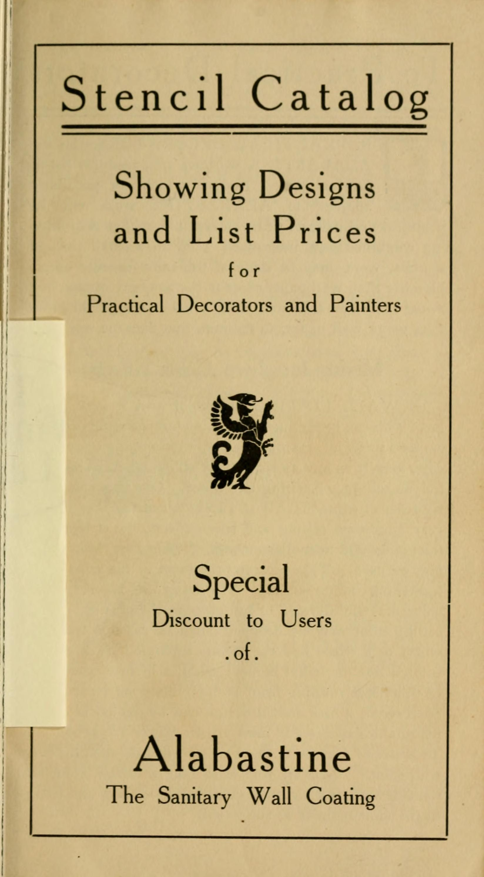 stencil catalog   showing designs and list prices for practical      rh   pinterest com